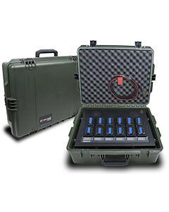 Isatphone 12 Bay in a case