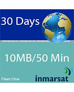 Inmarsat Fleet One - 10MB / 50 Minutes Global Prepaid SIM Card