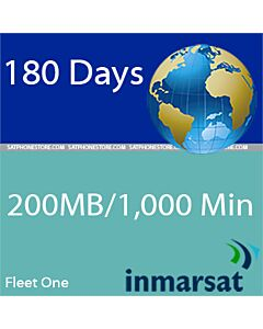 Inmarsat Fleet One - 200MB / 1000 Minutes Global Prepaid SIM Card