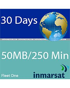 Inmarsat Fleet One - 50MB / 250 Minutes Coastal Prepaid SIM Card