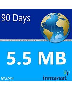 Inmarsat BGAN Prepaid 5.5 MB Units SIM Card