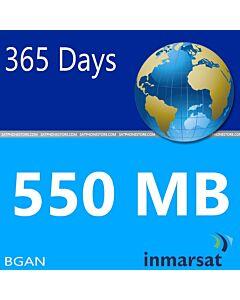 Inmarsat BGAN Prepaid 550 MB SIM Card
