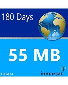 Inmarsat BGAN Prepaid 55 MB SIM Card