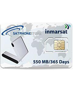 Inmarsat IsatHub Prepaid 550 MB SIM Card