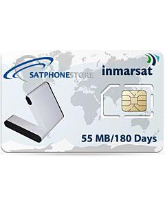 Inmarsat IsatHub Prepaid 55 MB Airtime SIM Card