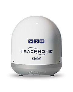 KVH TracPhone V3-IP Empty Dome/Baseplate; Complete Assembly - White